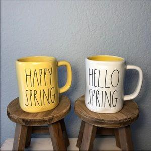 Rae Dunn Yellow Spring Mug Bundle